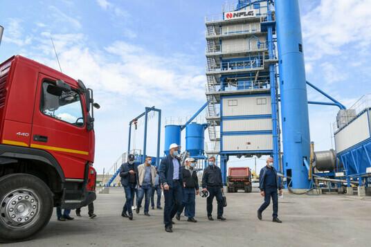 Президент Республики Татарстан посетил асфальтобетонный завод NFLG